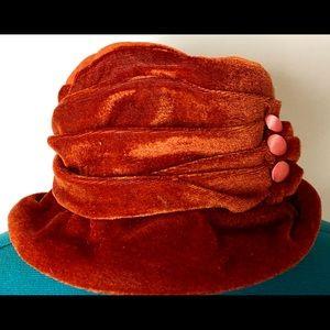 Retro 20's Velour Hat